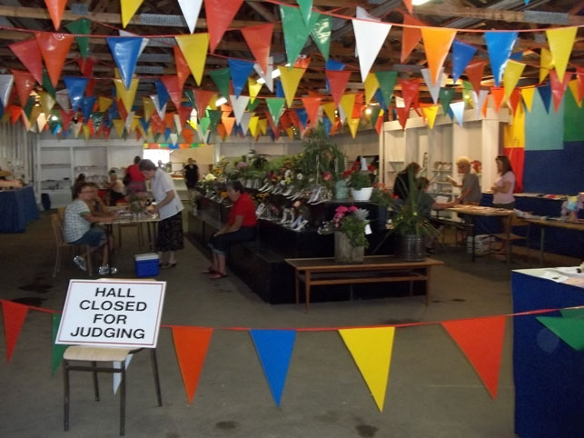hall closed for homecraft judging
